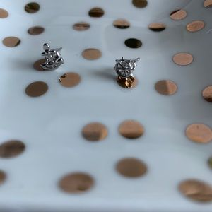 NEW Small nautical sterling silver earrings